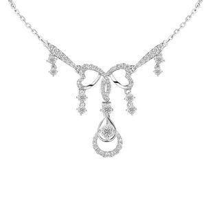 Jewelry - 3.00 Ct small round cut diamonds lady necklace gol